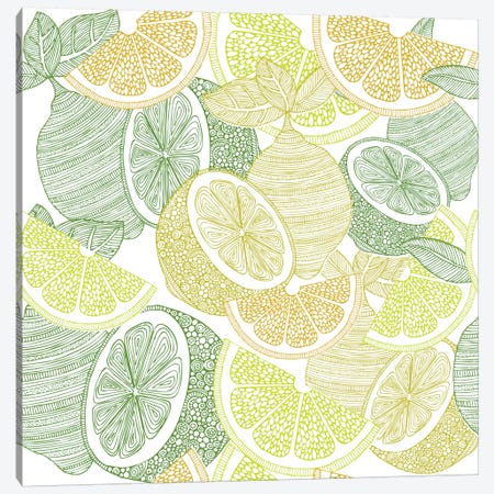 Lemons Canvas Print #VAL236} by Valentina Harper Canvas Print