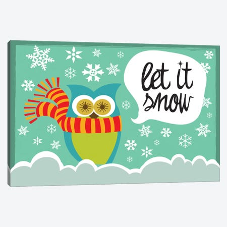 Let It Snow I Canvas Print #VAL239} by Valentina Harper Canvas Artwork