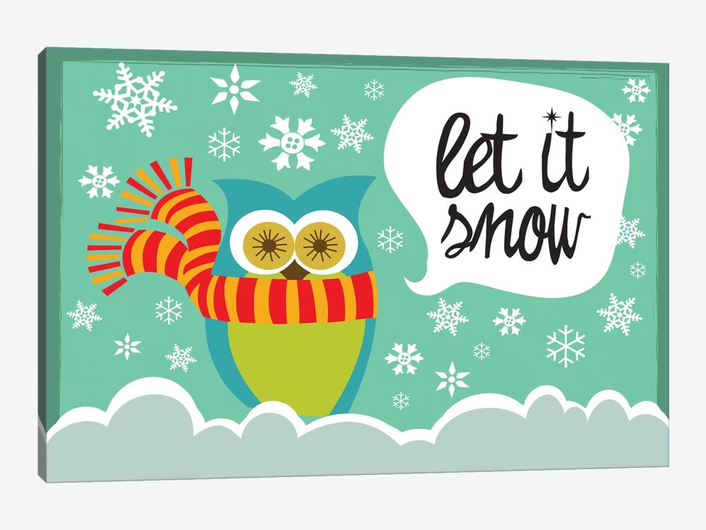 Let It Snow I 1-piece Canvas Art