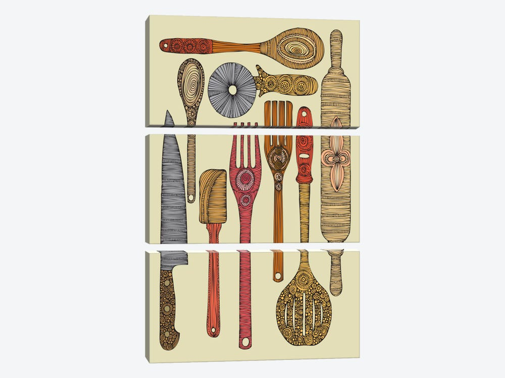 Let's Cook II by Valentina Harper 3-piece Canvas Wall Art