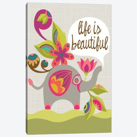 Life Is Beautiful Canvas Print #VAL244} by Valentina Harper Canvas Wall Art