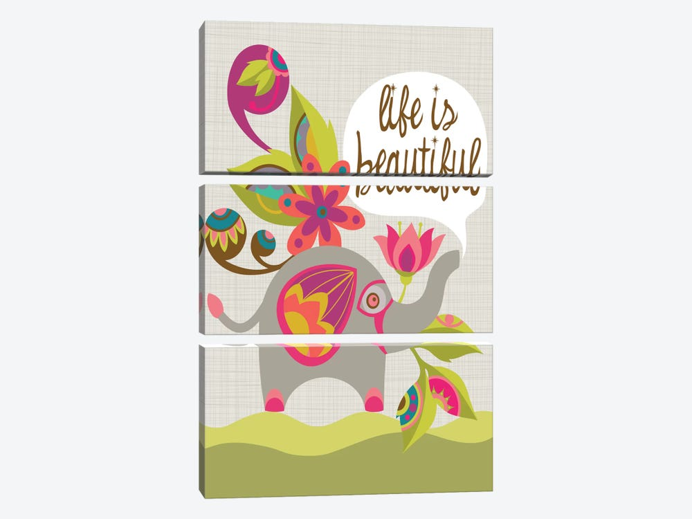 Life Is Beautiful by Valentina Harper 3-piece Canvas Wall Art