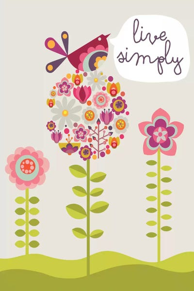 Live simply canvas wall art by valentina harper icanvas for Live simply wall art