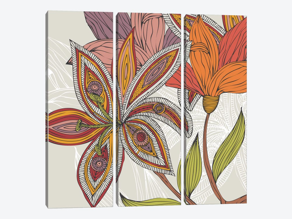Lou I by Valentina Harper 3-piece Canvas Wall Art