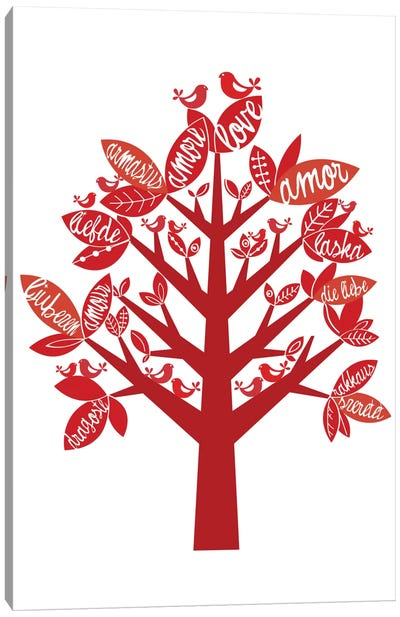 Love Tree Canvas Art Print