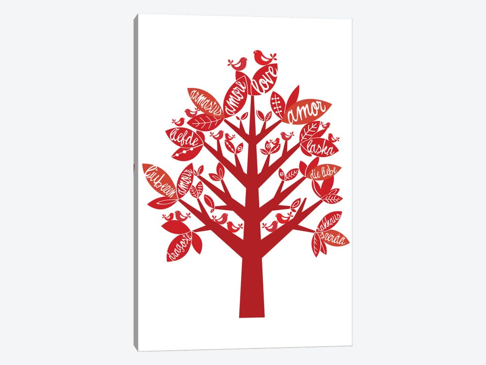Love Tree by Valentina Harper 1-piece Canvas Artwork