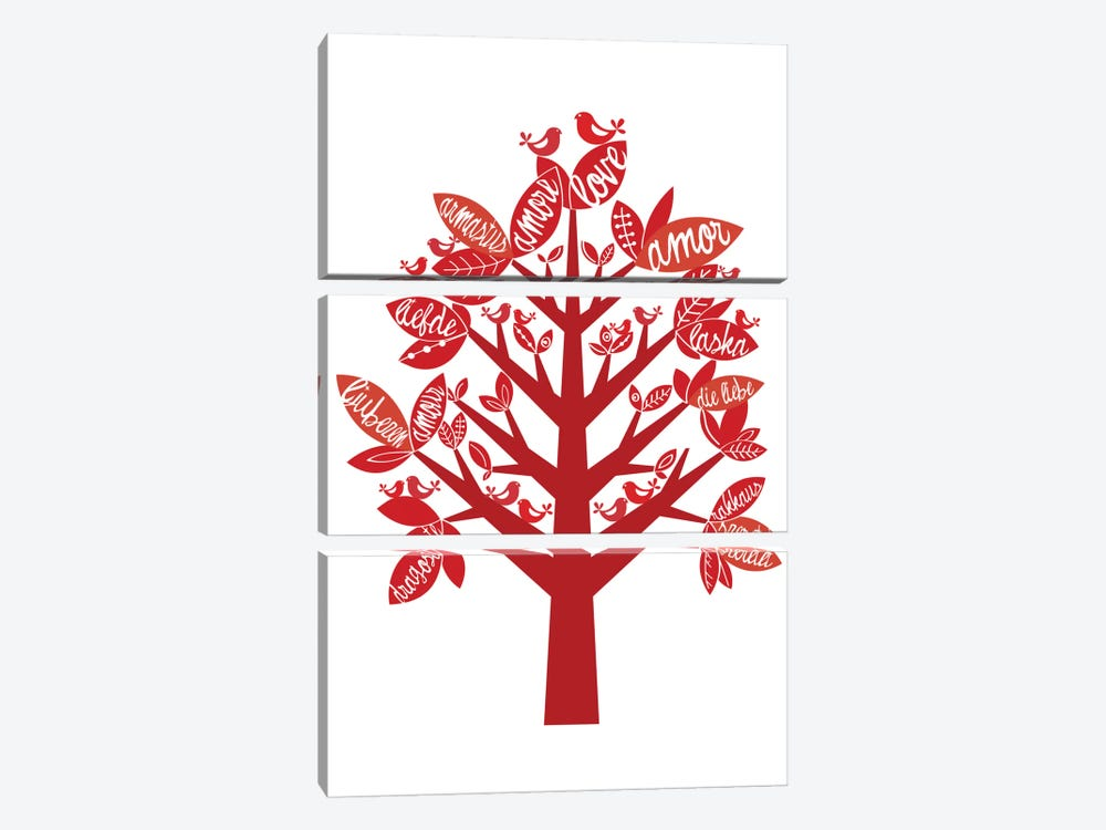 Love Tree by Valentina Harper 3-piece Canvas Artwork