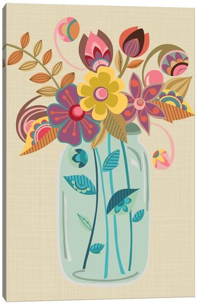 Mason Jar Canvas Print #VAL286