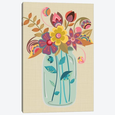 Mason Jar Canvas Print #VAL286} by Valentina Harper Canvas Art