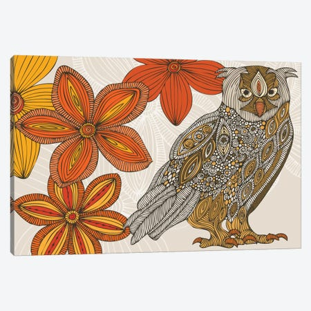 Matt The Owl Canvas Print #VAL287} by Valentina Harper Canvas Wall Art