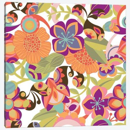Birds In The Garden Canvas Print #VAL28} by Valentina Harper Canvas Art