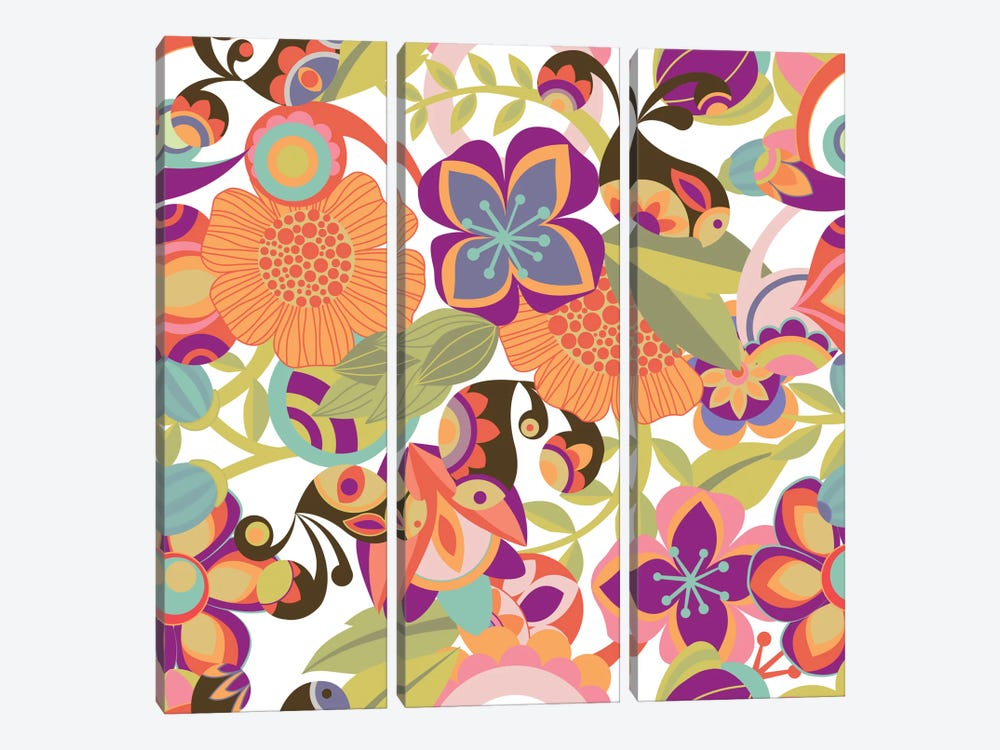 Birds In The Garden by Valentina Harper 3-piece Art Print