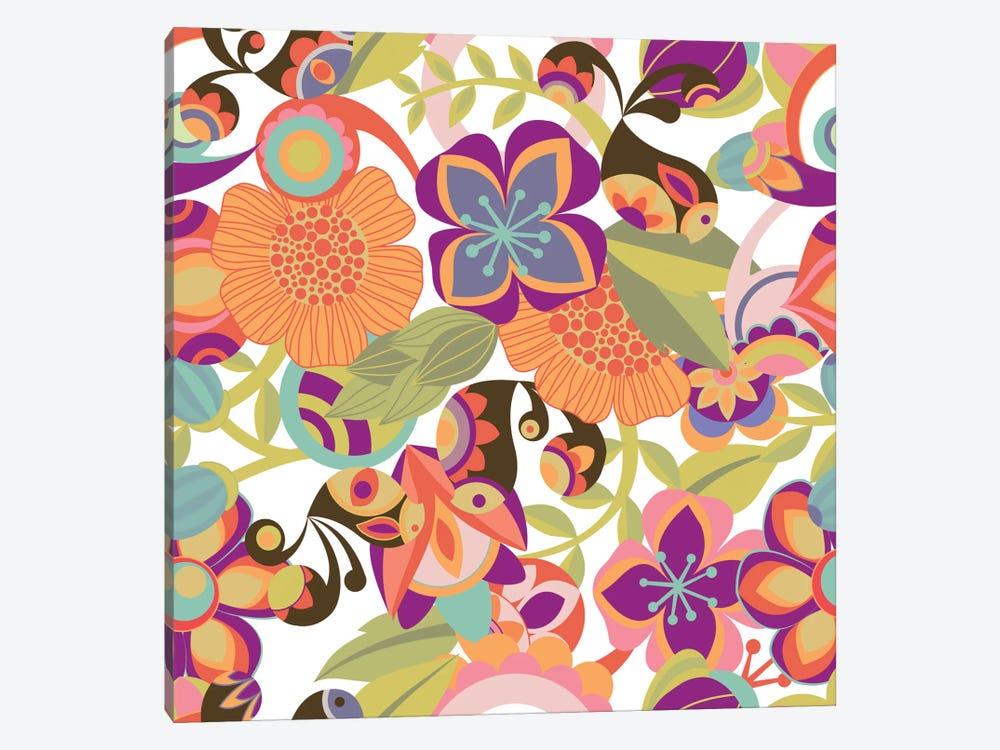 Birds In The Garden by Valentina Harper 1-piece Canvas Art Print