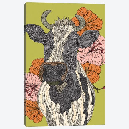Moo Canvas Print #VAL290} by Valentina Harper Canvas Art