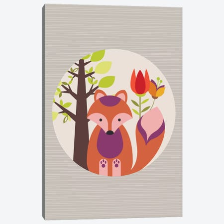 Orange Fox Canvas Print #VAL295} by Valentina Harper Art Print