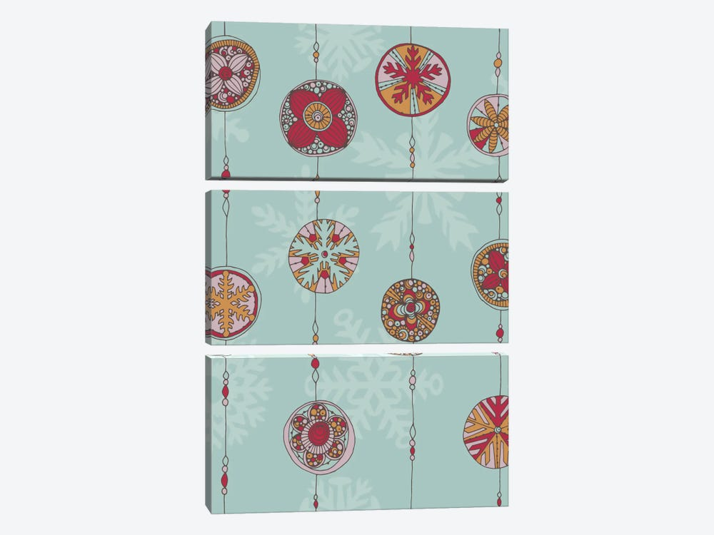 Ornaments I by Valentina Harper 3-piece Canvas Art