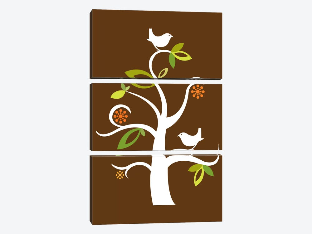 Birds In The Tree by Valentina Harper 3-piece Canvas Wall Art