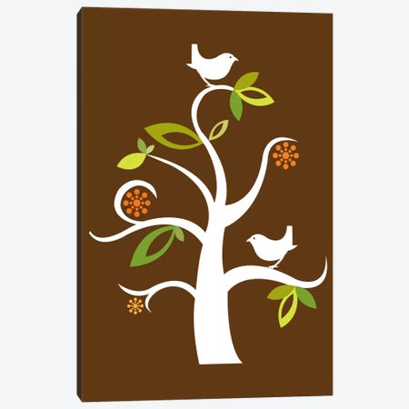 Birds In The Tree Canvas Print #VAL29} by Valentina Harper Canvas Art