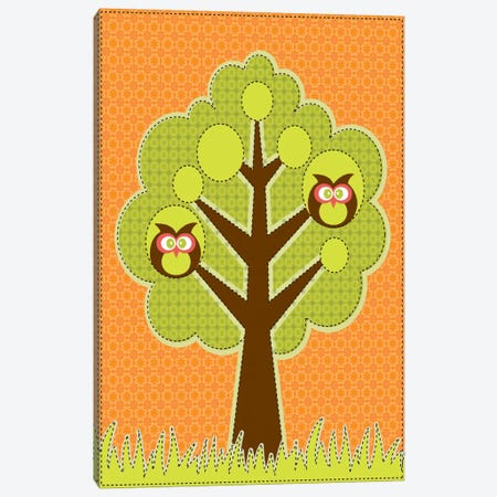 Owls In The Tree Canvas Print #VAL305} by Valentina Harper Canvas Print
