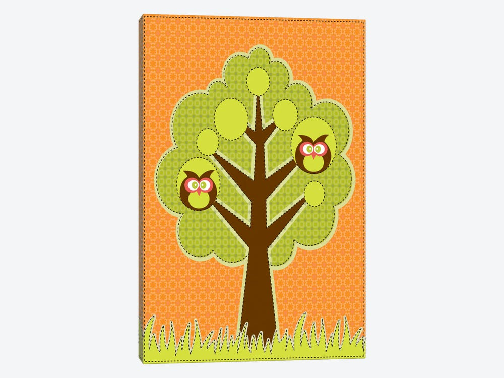 Owls In The Tree by Valentina Harper 1-piece Canvas Wall Art