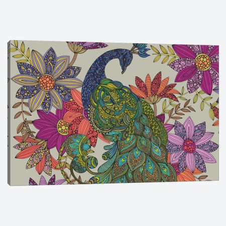 Peacock Puzzle Canvas Print #VAL311} by Valentina Harper Canvas Print