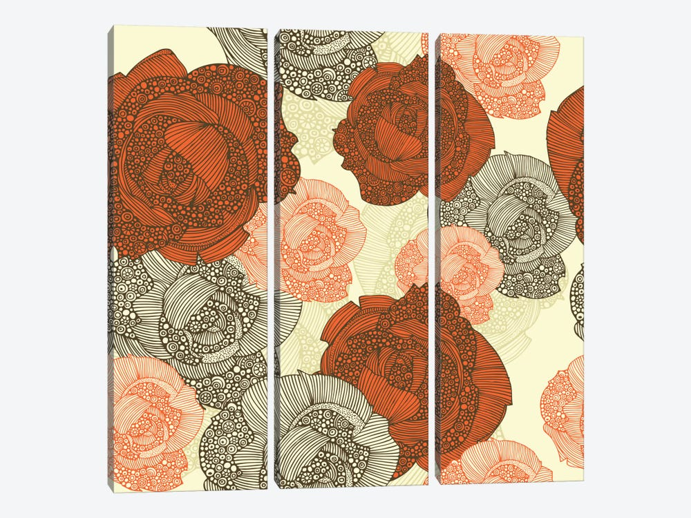 Pink Roses by Valentina Harper 3-piece Art Print