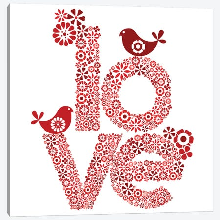 Red Love Canvas Print #VAL329} by Valentina Harper Canvas Wall Art