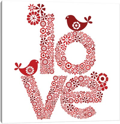 Red Love Canvas Art Print