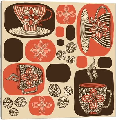 Retro Coffee Canvas Print #VAL332