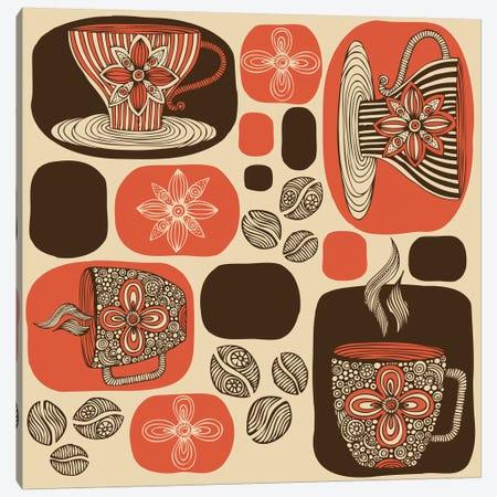 Retro Coffee Canvas Print #VAL332} by Valentina Harper Canvas Art Print