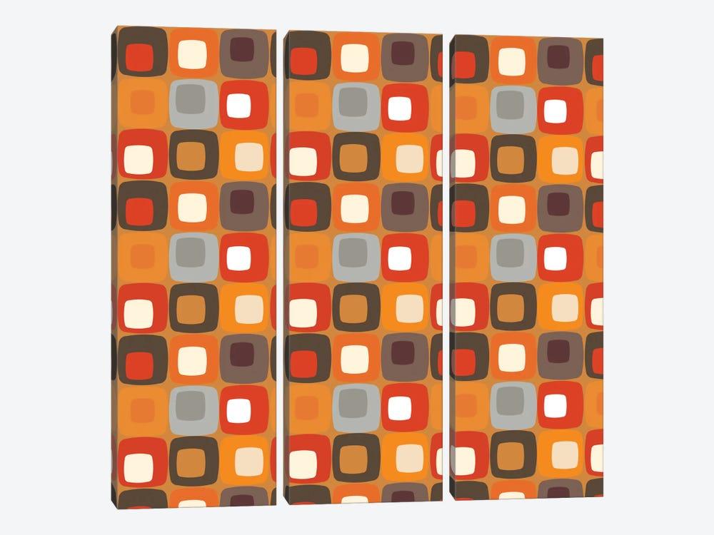 Retro Squares I by Valentina Harper 3-piece Canvas Print
