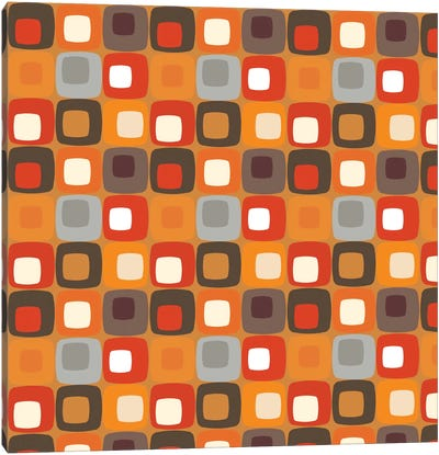 Retro Squares I Canvas Art Print
