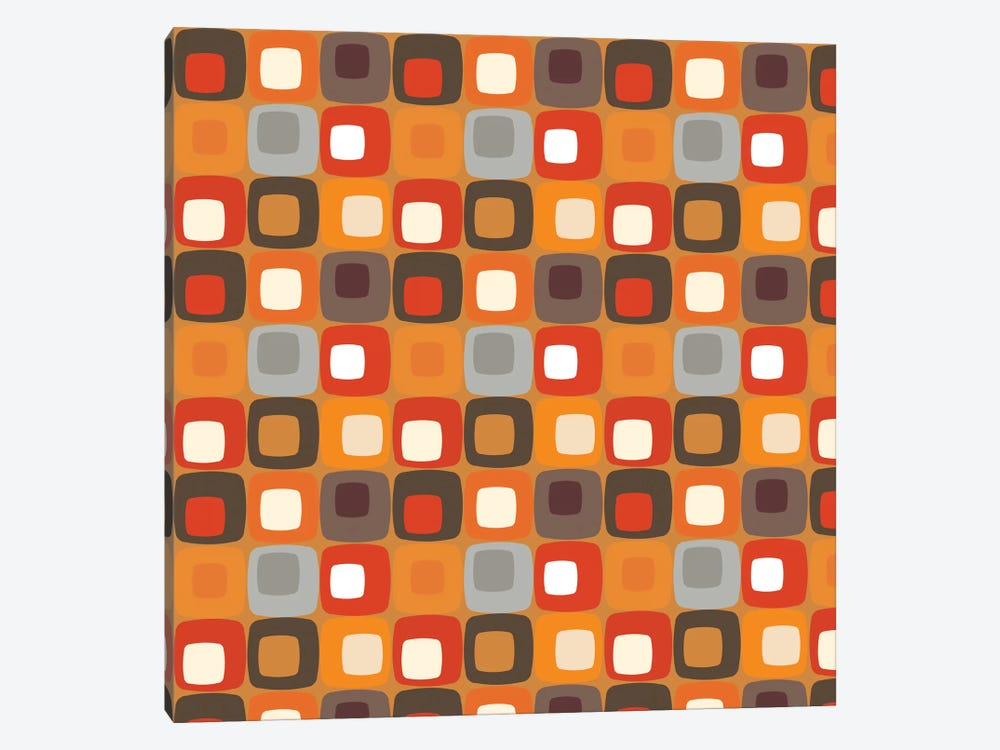 Retro Squares I by Valentina Harper 1-piece Canvas Art Print