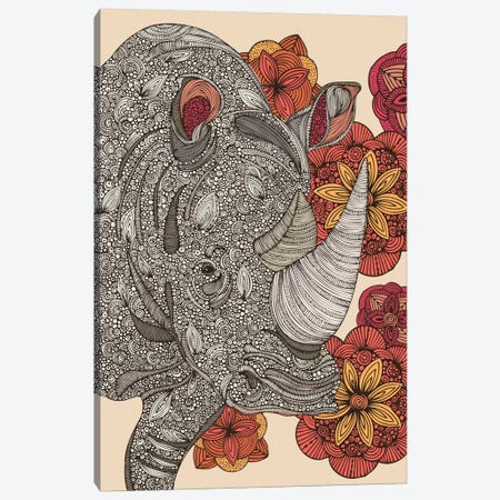 Rhino Canvas Print #VAL336} by Valentina Harper Canvas Wall Art