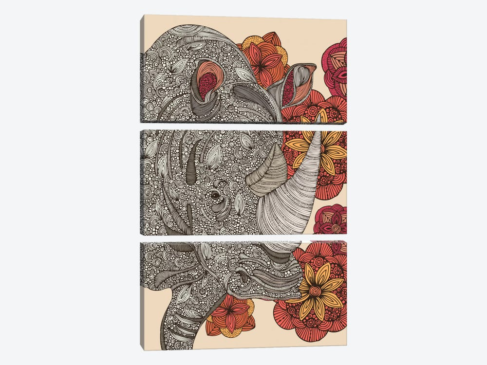 Rhino by Valentina Harper 3-piece Canvas Artwork