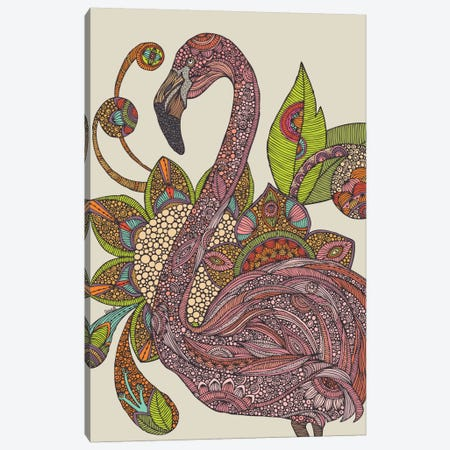 Royal Flamingo Canvas Print #VAL339} by Valentina Harper Art Print