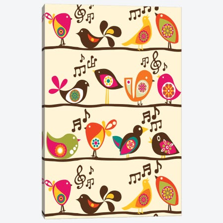 Singing Birds Canvas Print #VAL345} by Valentina Harper Canvas Art Print