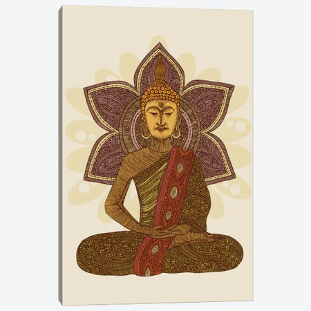 Sitting Buddha Canvas Print #VAL346} by Valentina Harper Canvas Art Print