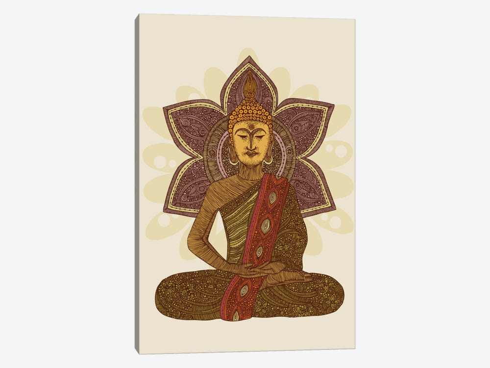 Sitting Buddha by Valentina Harper 1-piece Canvas Art Print