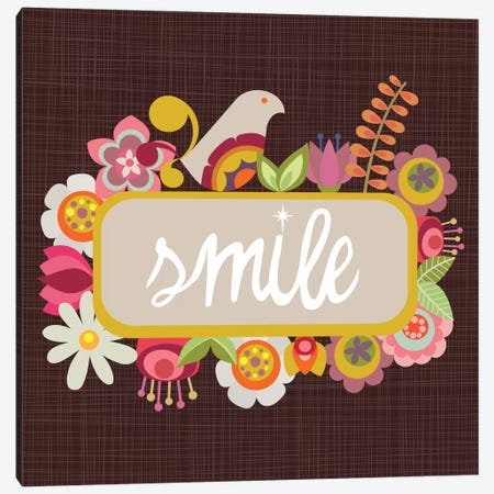 Smile Canvas Print #VAL347} by Valentina Harper Canvas Print