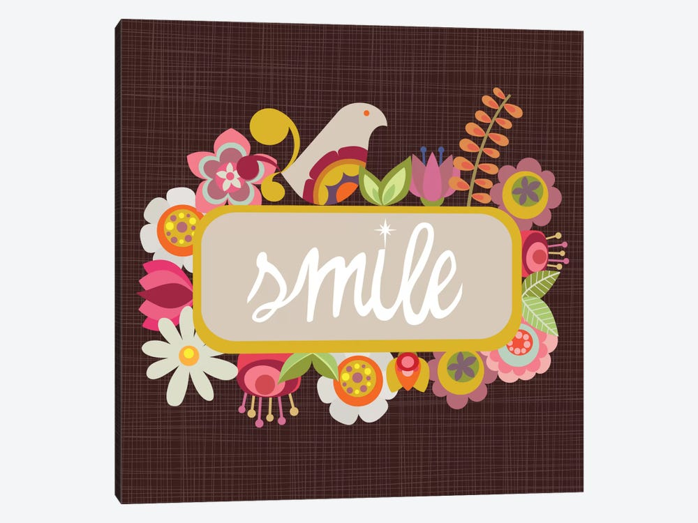 Smile by Valentina Harper 1-piece Canvas Artwork
