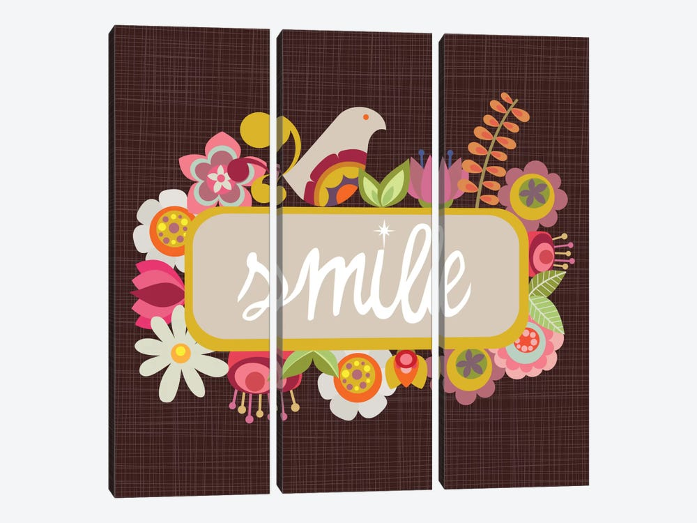 Smile by Valentina Harper 3-piece Canvas Wall Art