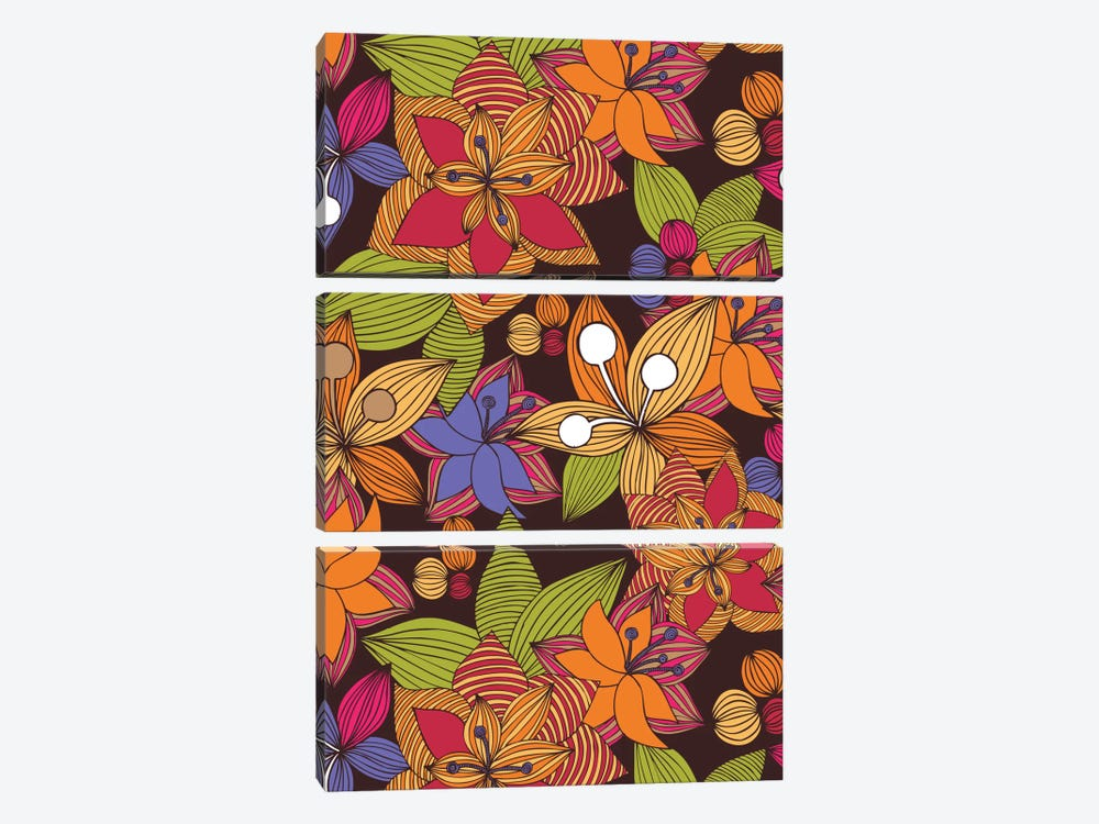 Blooming by Valentina Harper 3-piece Canvas Print