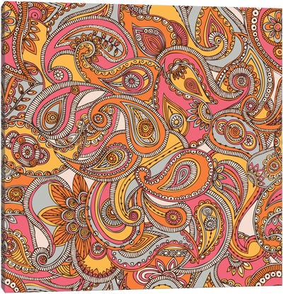 Spring Paisley Canvas Art Print