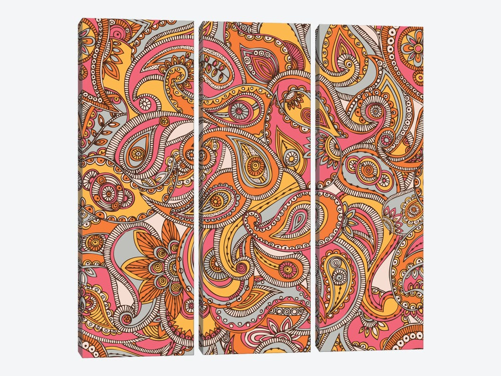 Spring Paisley by Valentina Harper 3-piece Canvas Wall Art