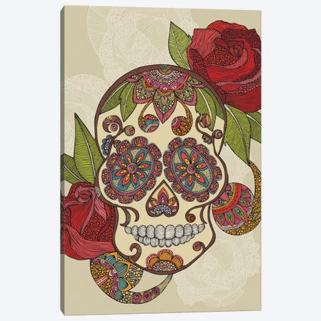Sugar Skull Canvas Print #VAL366} by Valentina Harper Canvas Art Print
