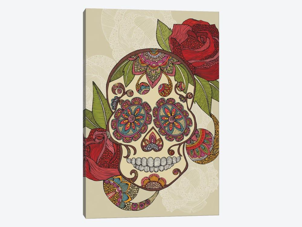 Sugar Skull by Valentina Harper 1-piece Canvas Print