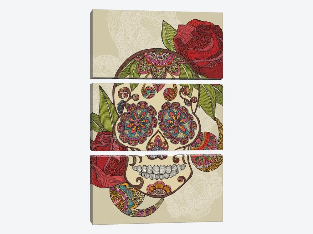Sugar Skull by Valentina Harper 3-piece Art Print