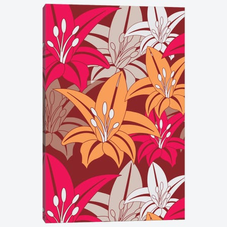 Bold Flower Print Canvas Print #VAL36} by Valentina Harper Canvas Art
