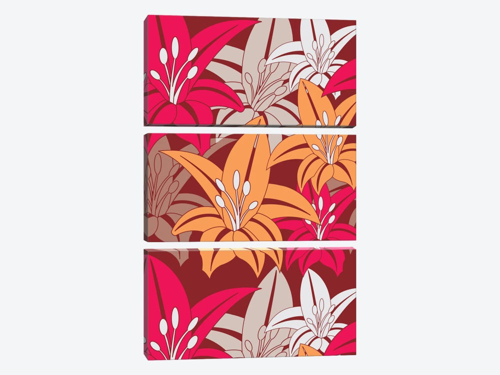 Bold Flower Print by Valentina Harper 3-piece Canvas Art